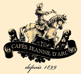 Logo of Les cafés Jeanne d'Arc, tea and coffee shop, one of the partners of la chasse au TrésOrléans