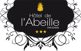 Logo of L'Hôtel*** de l'Abeille, charming french hotel, one of the partners of la chasse au TrésOrléans