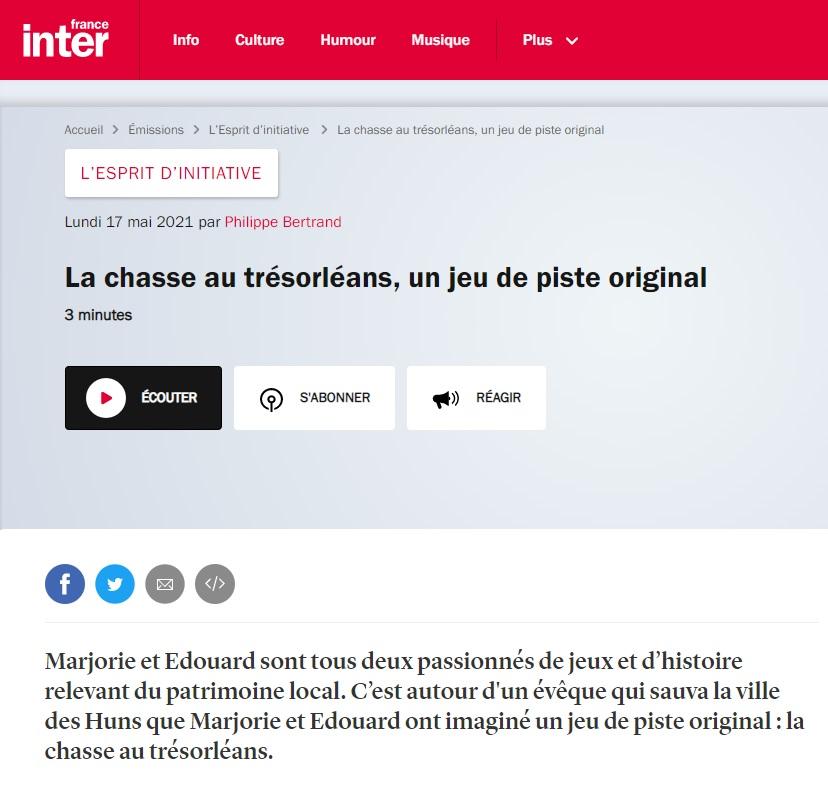 France Inter esprit d'initiative
